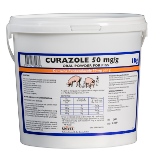 Curazole 50mg/g oral powder for pigs